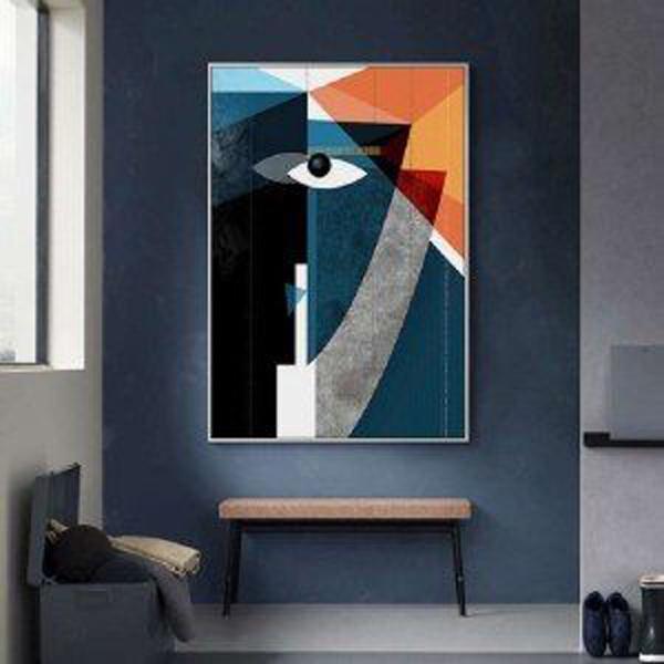 Blue-geometric-canvas-art