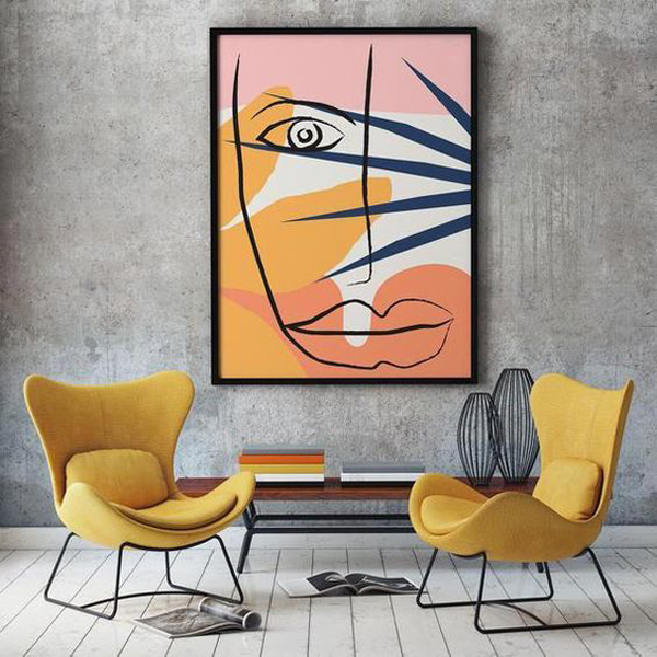 Canvas-art-with-face-design