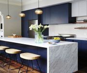 Dark-blue-kitchen-with-beautiful-hanging-lamps copy