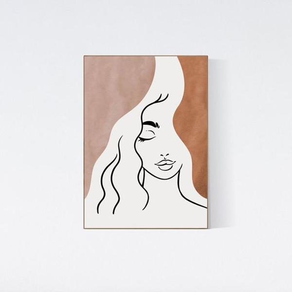 Female-face-line-art-design