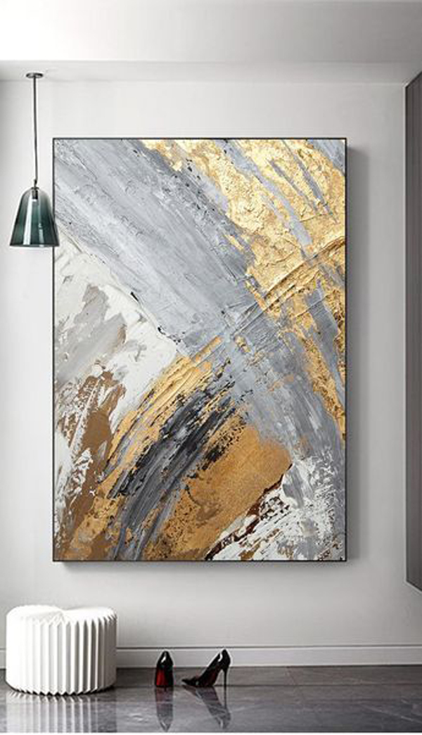 Grey-gold-and-black-painting-art