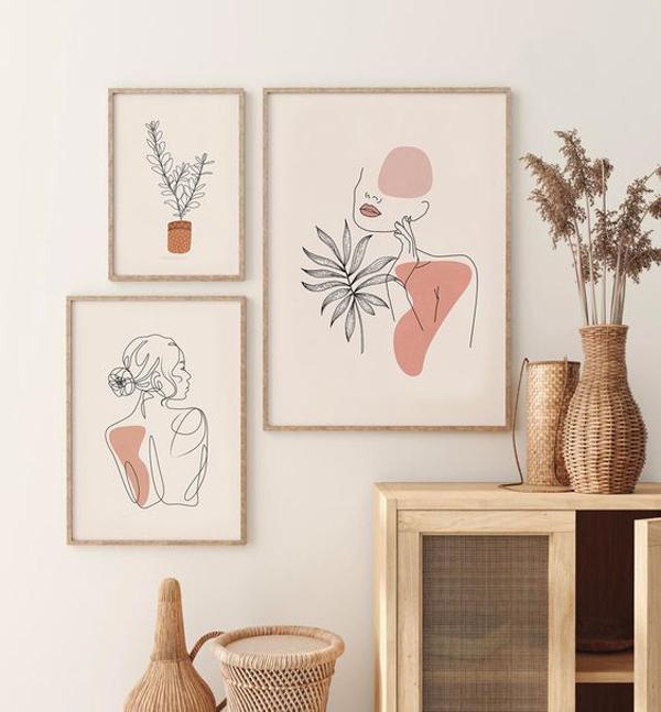 Line-drawing-wall-art