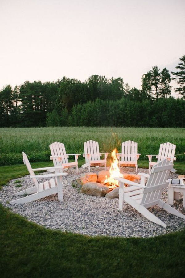 Patio-garden-design-with-fireplace