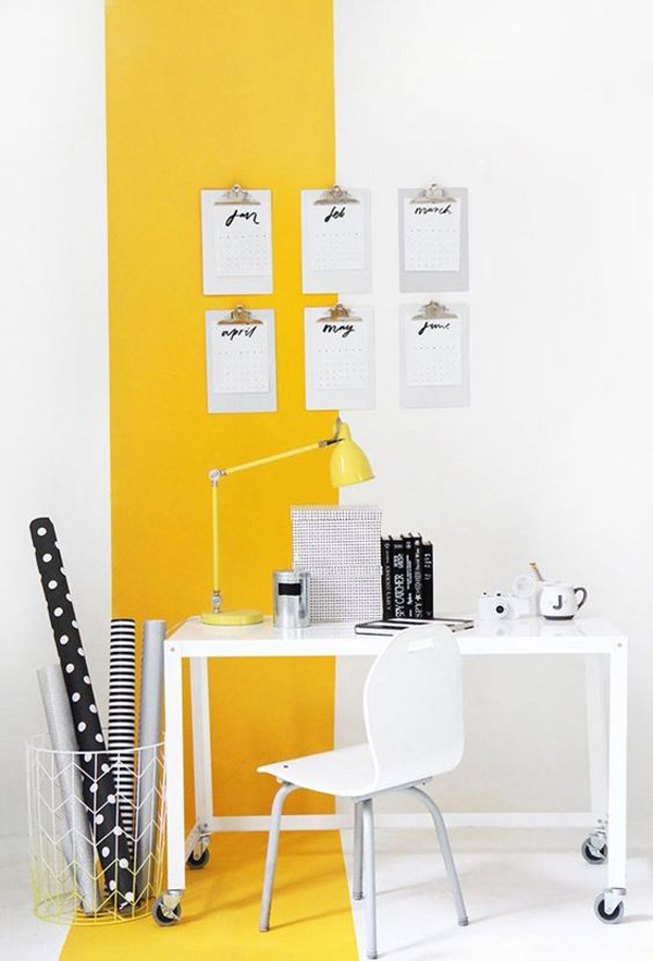 Study-desk-with-yellow-decoration