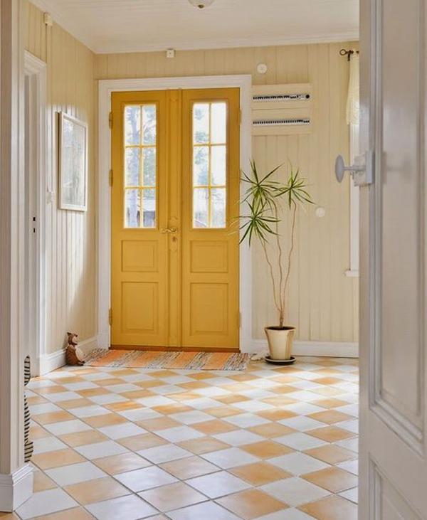 Yellow-interior-on-the-door