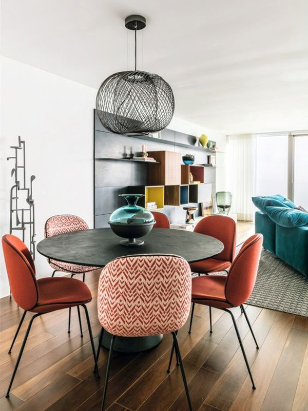 Colorful-curved-chairs