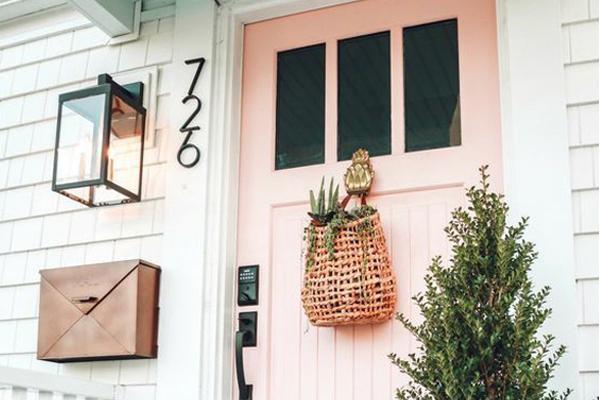 Pink-front-door