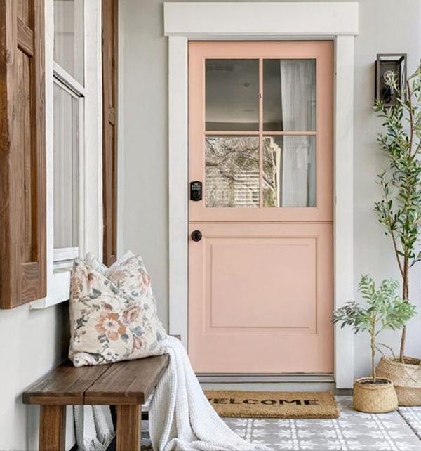 Nude-front-door-and-terrace-decoration
