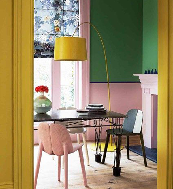 Yellow-and-pink-room-decoration