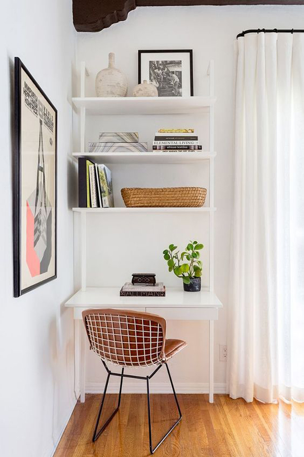 White-home-office-decoration