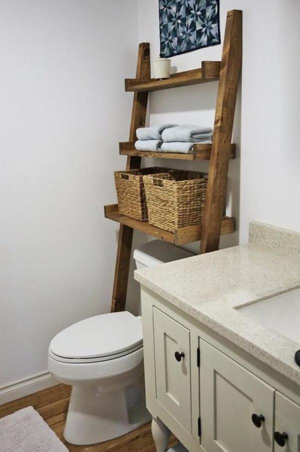 Wooden-ladder-storage