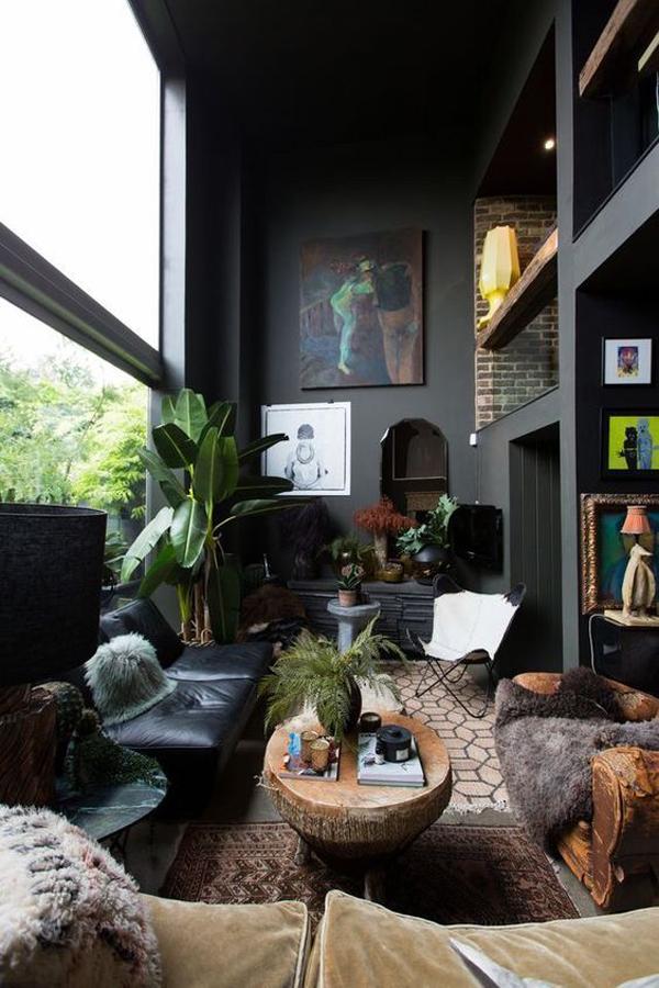 family-room-with-black-theme-interior-design