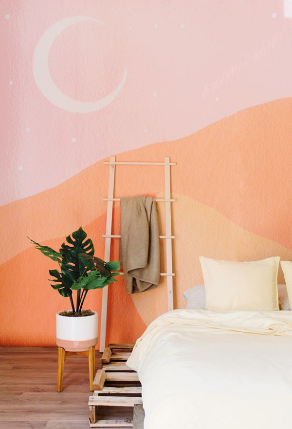 Bohemian-wallpaper-bedroom