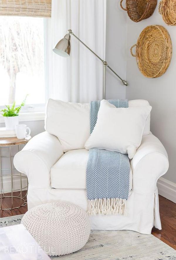 Comfortable-white-single-sofa