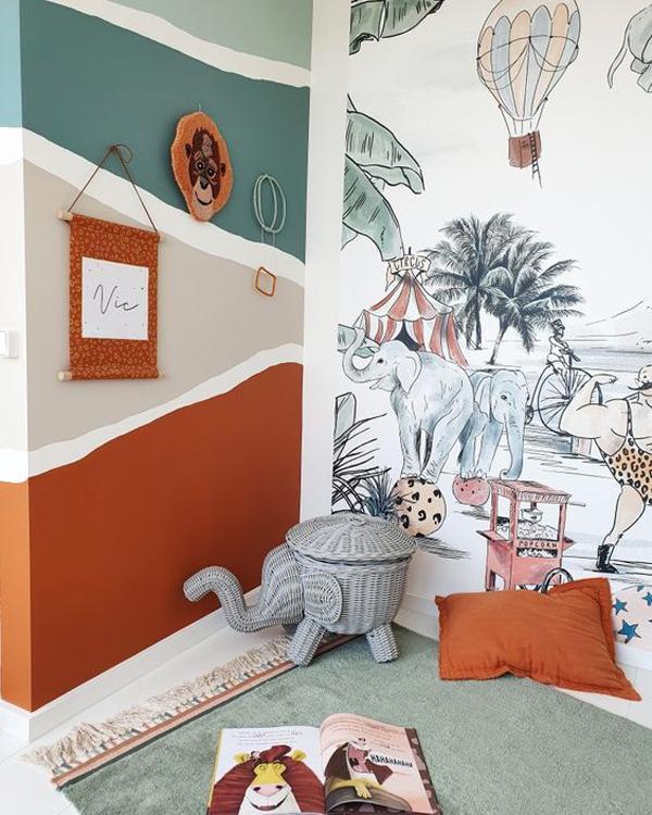 Kids-room-with-jungle-them