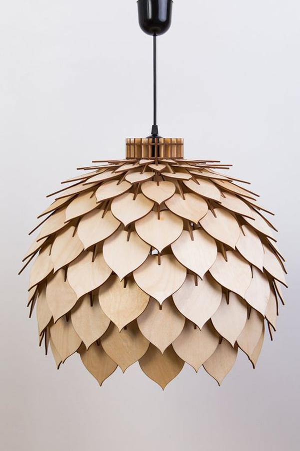 Luxurious-wood-hanging-lamp