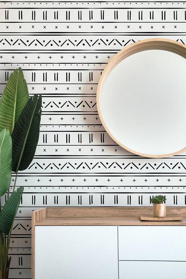 Strip-wallpaper-design