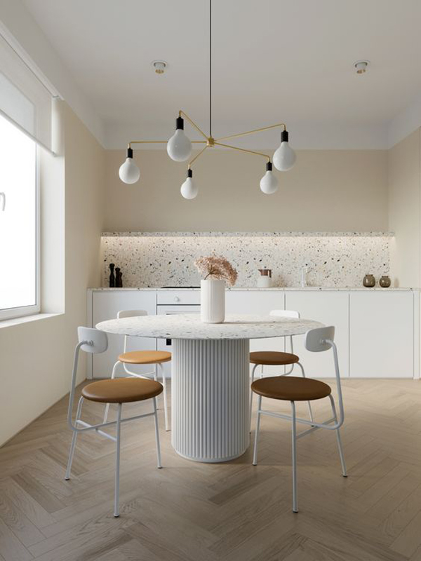 Adorable-white-dining-room-interior