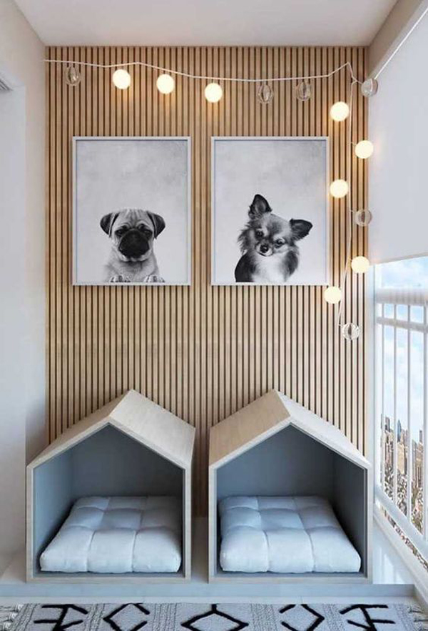 Cute-dog-bed-for-your-couple-dogs
