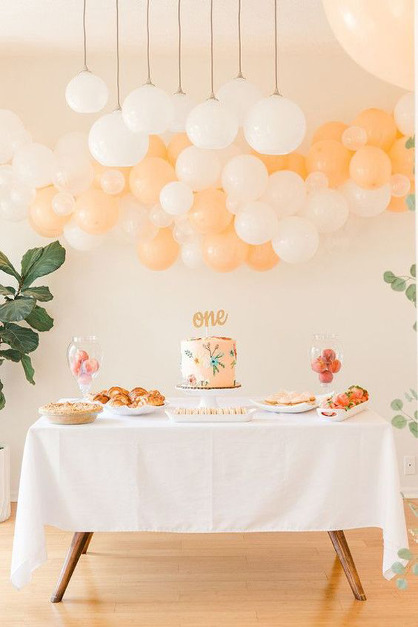 Kids-birthday-decoration-with-peach-theme