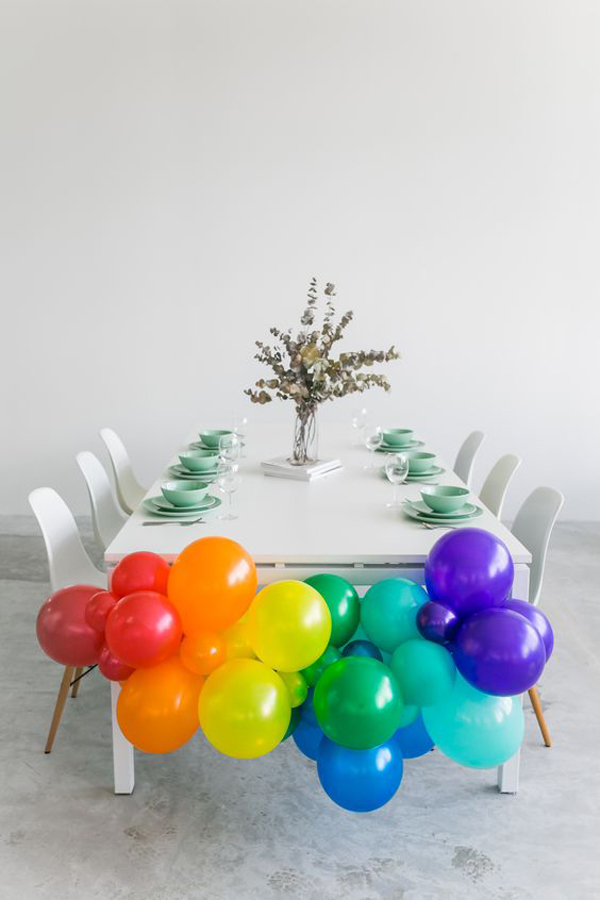 Pastel-rainbow-balloon-for-party-decoration