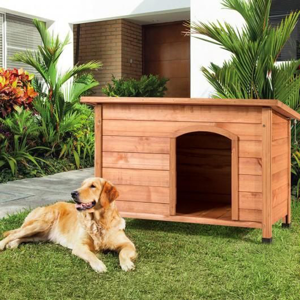 Wood-outdoor-dog-house