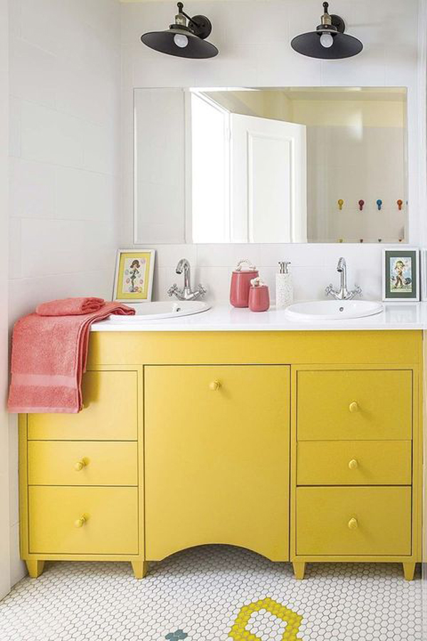 Yellow-cabinet-in-your-bathroom