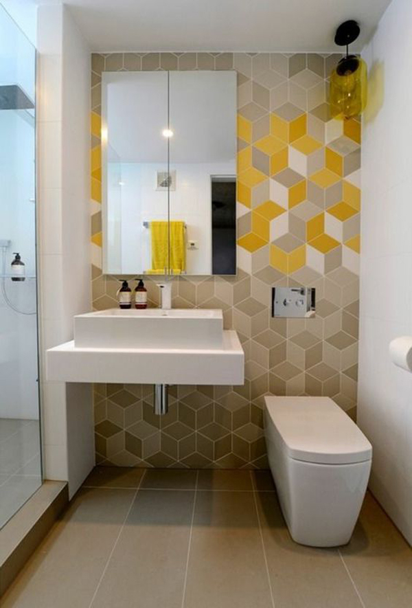 Yellow-cube-design-in-your-bathroom-decoration