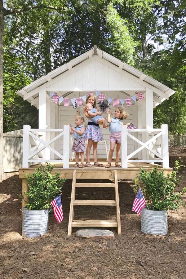 Beautiful-white-playhouse-ideas
