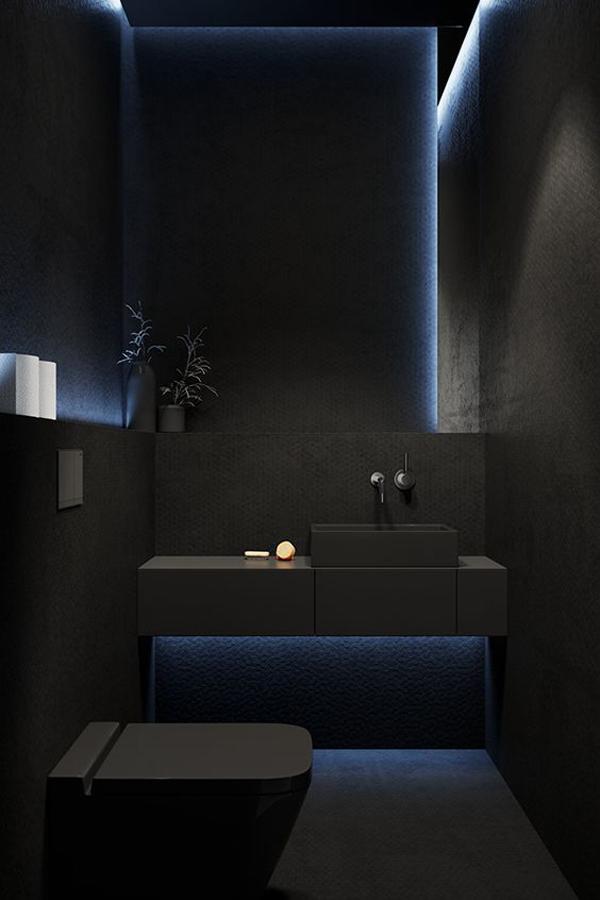 Black-bathroom-with-LED-blue-light