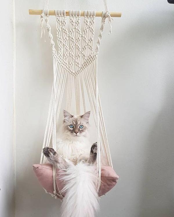 Bohemian-macrame-cat-bed