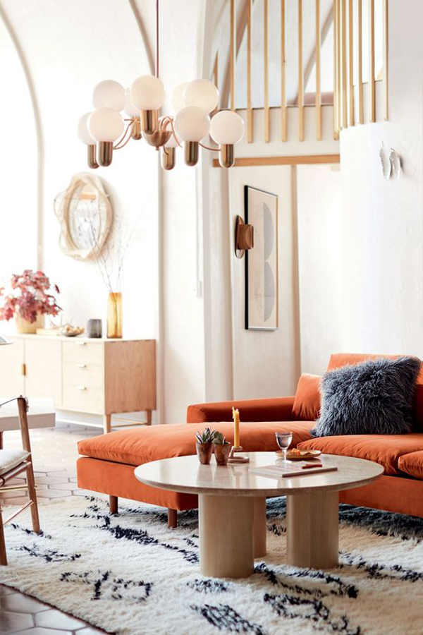 Bright-living-room-design-with-brown-sofa