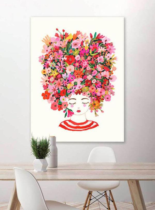 Colorful-hair-wall-art