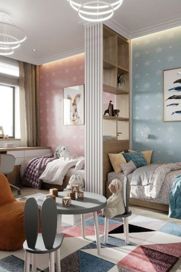 Comfortable-shared-room-ideas