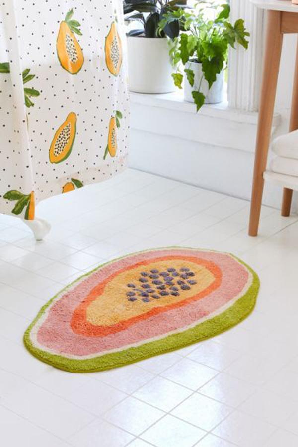 Cute-papaya-bath-mat