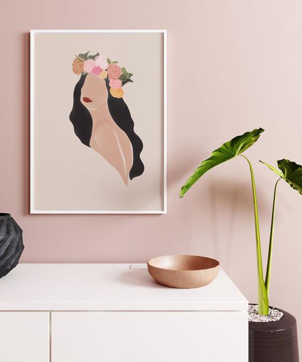 Feminist-wall-art-with-bohemian-theme