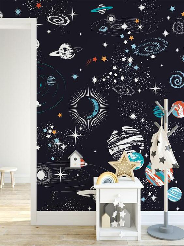 Kids-bedroom-wallpaper-with-astronout-theme
