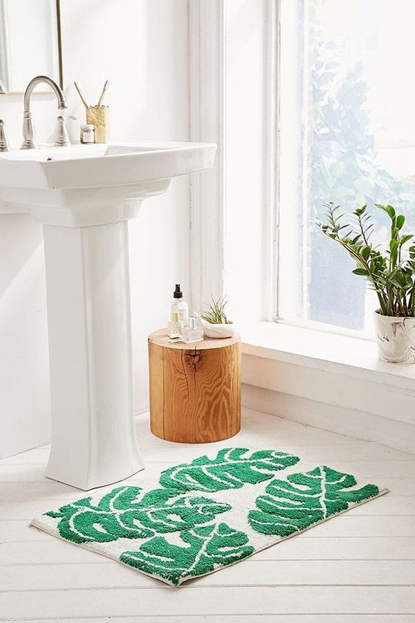 Leaf-bathroom-mat