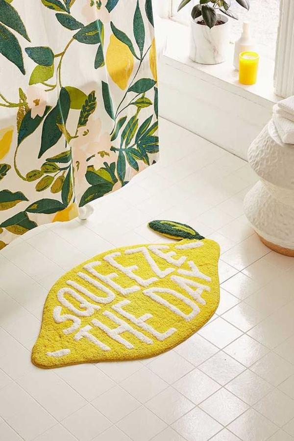 Lemon-bath-mat