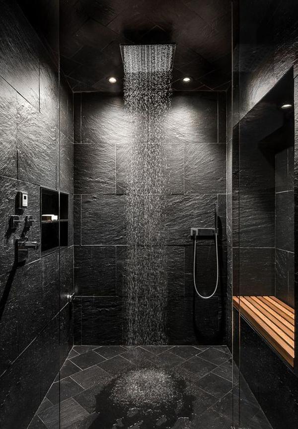 Minimalist-black-bathroom-shower