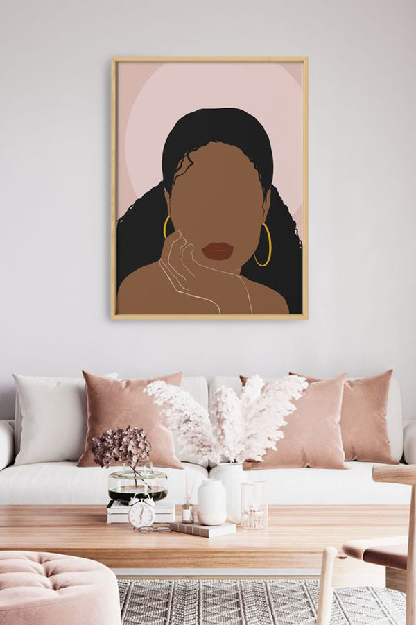 Modern-black-woman-wall-art