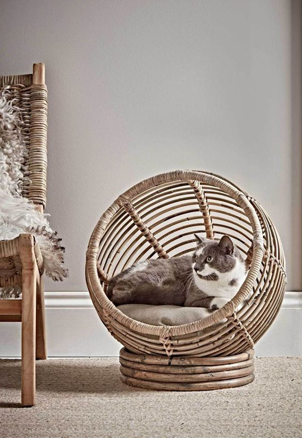Pet-accessories-with-a-roll-of-rattan