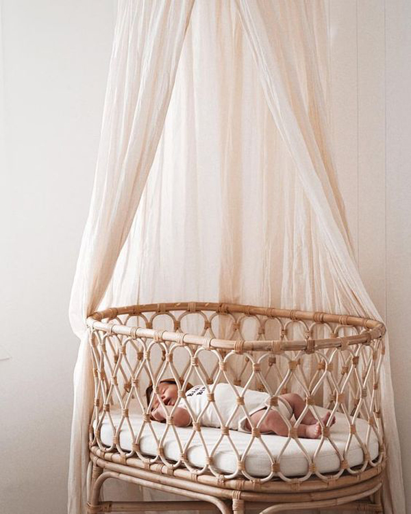 Rattan-baby-cribs