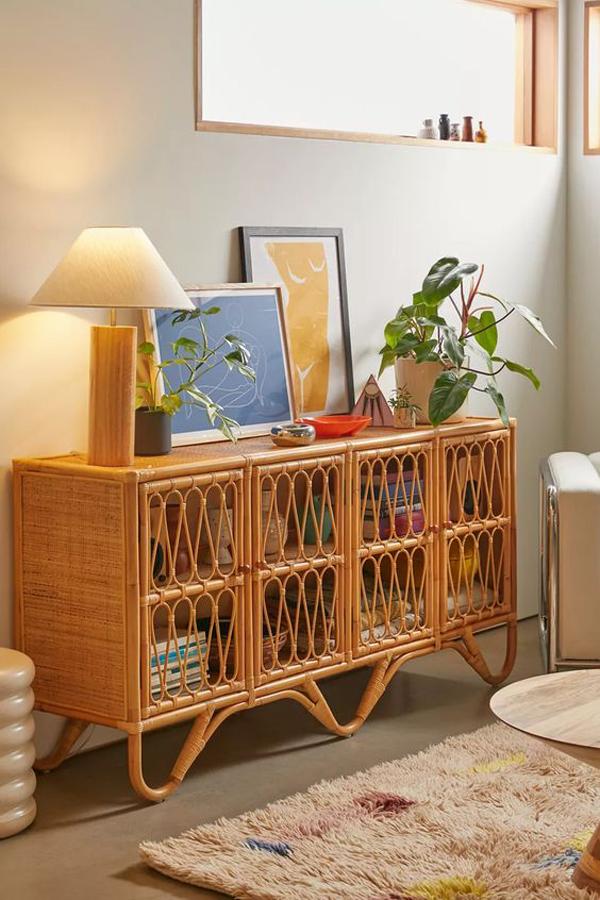 Rattan-storage-cabinet