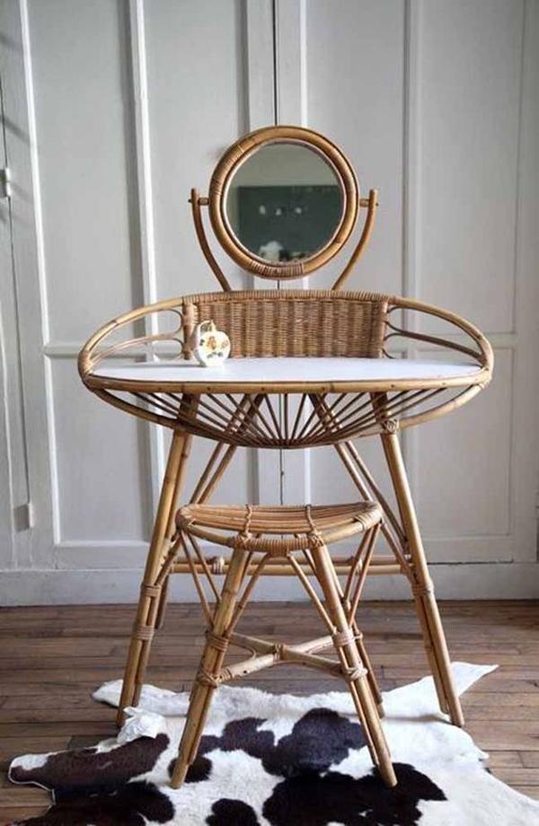 Rattan-table-set