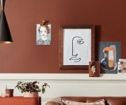 Simple-brown-wall-paint