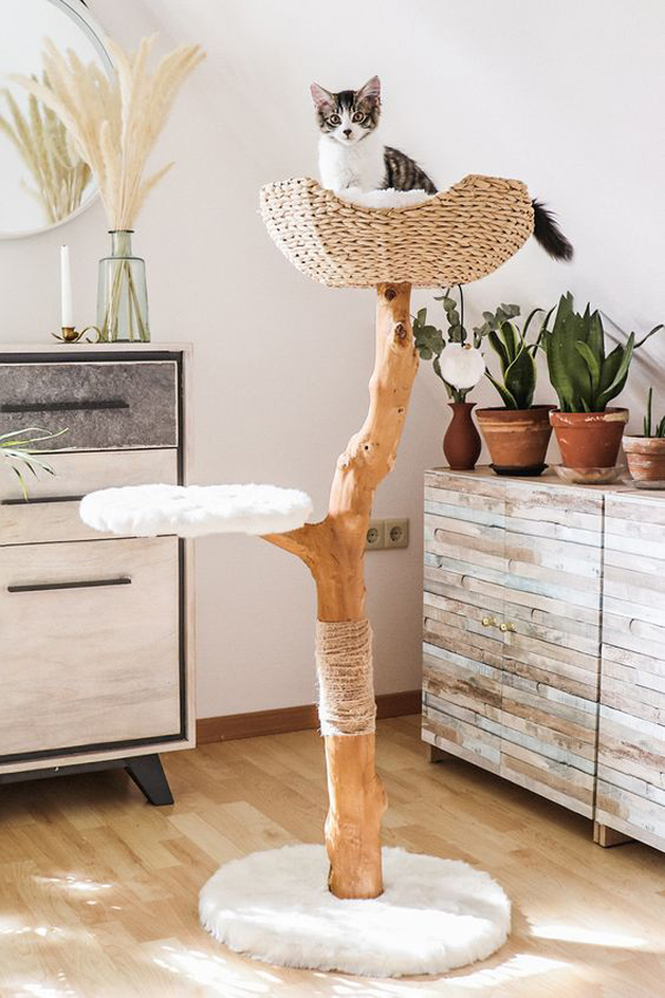 Wooden-cat-tree