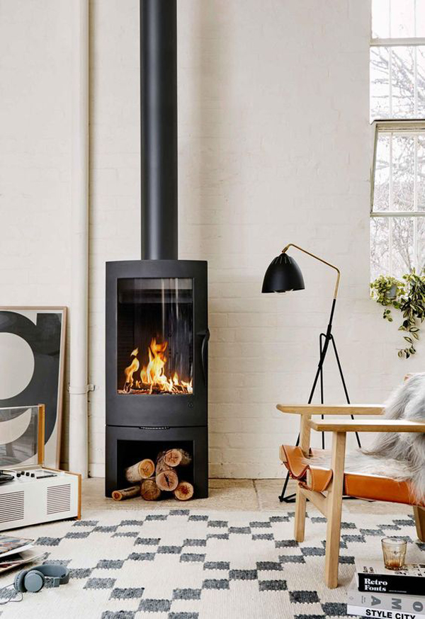 Modern-fireplace-with-simple-design