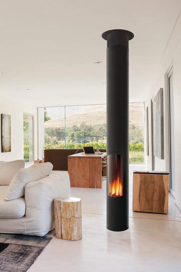 Stylish-pale-fireplace-design